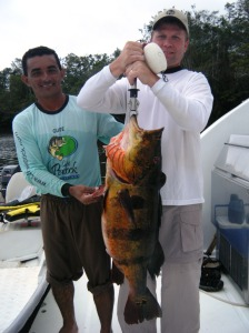 Aldeni-Fonseca-and-Bill-Gassmann-with-28-pound-peacock